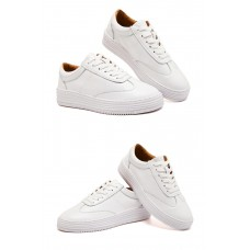 Superstar in White & Gold Le...