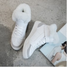 Sneaker Superstar White with Shearling s...