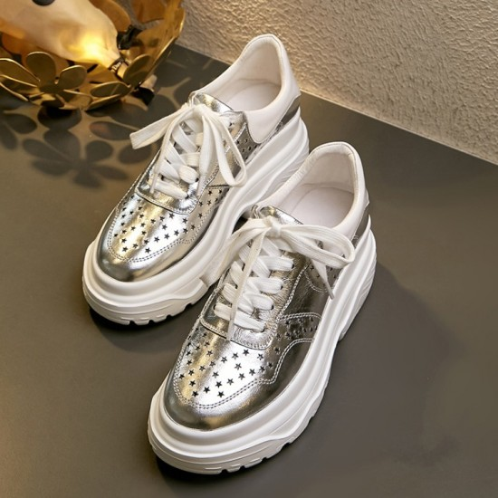 Super Star Sneakers Gray Code Silver Tab G32MS590.C39