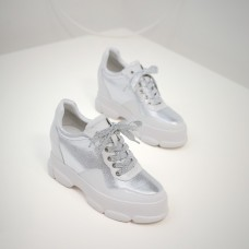 Super Star Sneakers In Leather With Leat...