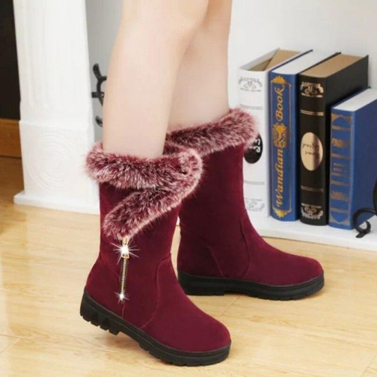 2019 Autumn And Winter Women Boot Casual Shoes Round Toe Waterproof Platform Shoes Women Boots