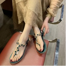 2019 summer women's sandals beach rhinestones sandals comfortable ladies shoes gladiator sandals women