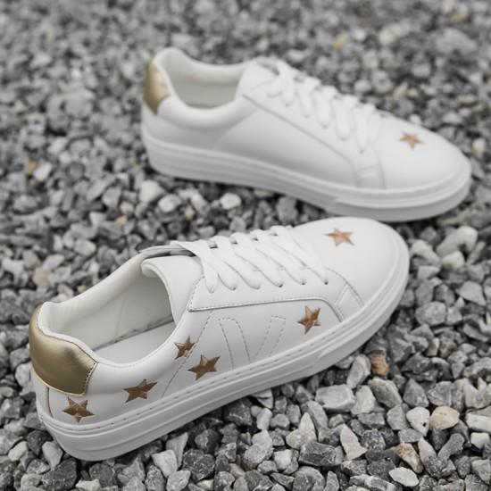 SuperStar  Sneakers In Camoscio E Stella In Pelle Ciel Suede White Sta