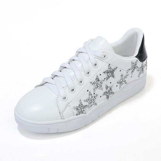 Sneakers Superstar in Nabuk e Stella in cavallino