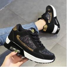 Superstar Sneaker White  Black Glitter w...