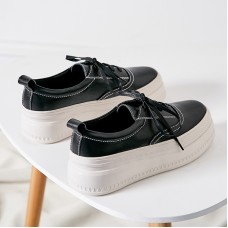 Women May Sneakers In Black Leather and ...