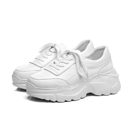 May Sneakers White Calf Leather