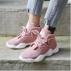 Women Slide Sneakers In Leather With Lea...