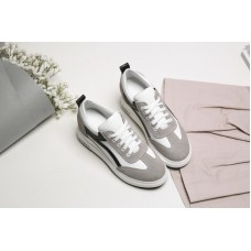 Women Slide Sneakers In Leather With Sue...