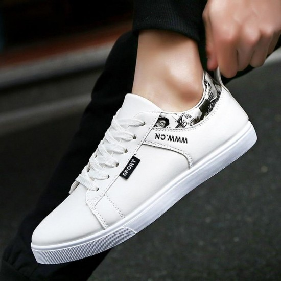 Autumn And Winter Fashion New Men Shoes Casual Shoes Men Flats Shoes Men Flats PU Plus Size