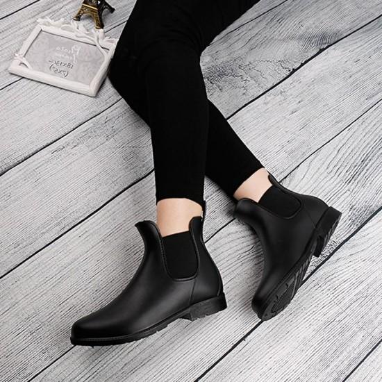 Botas de tobillo Martin 2018 autumn Mujer Zapatos casuales mujer plataforma de moda plana punta redonda botas