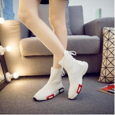 Fashion Women Shoes High Top Female Casual Shoes Breathable Women Flat Sneakers