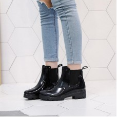 Leather Boots Women Short Ankle Boots Ma...