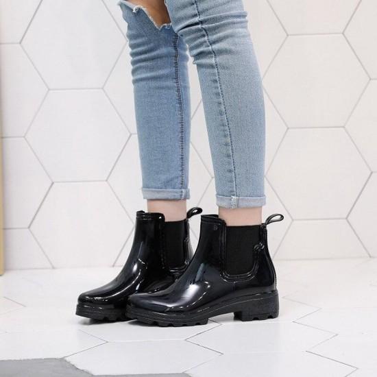 Leather Boots Women Short Ankle Boots Martin Boots Autumn Winter zapatos de mujer bota feminina