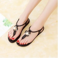 New genuine leather sandals women shoes ...