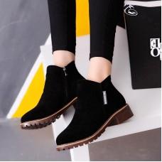 Nuevas botas del tobillo de las mujeres del zapatos casuales de las mujeres del piel caliente de la piel de la felpa zapatos