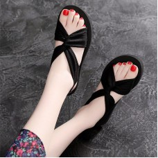 Sandalias Mujer 2019 Sexy Cross Strappy Casual Flats Beach Sandals Open Toe gladiator sandals Women Summer Shoes Ladies Sandals