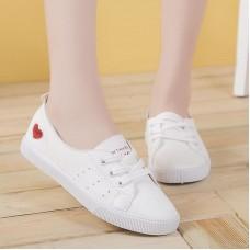 White Sneakers Women Shoes Flats Heart F...
