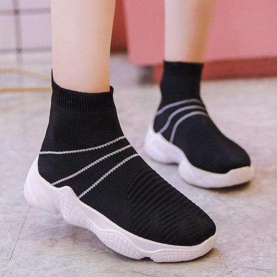 Women Shoes Spring Sneakers Female Vulcanized Shoes Casual Slip On Flat Shoe Mesh Soft Walking Footwear