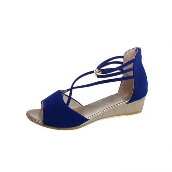 Women's sandals  Ladies Women's summer shoes woman sandals Open Toe wedge Heel