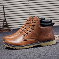 fashion Men boots Ankle Winter Autumn Boots Casual Shoes Men Male Boots Leather Footwear