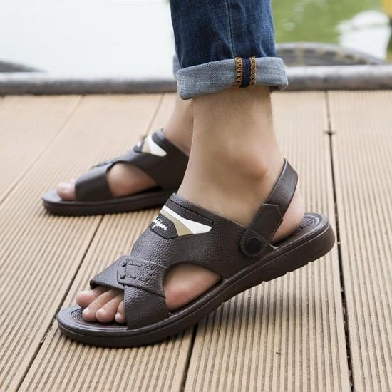 Uomini Sandali Da Spiaggia di Estate Slip On Sandali Per Gli Uomini Sandali degli uomini Respirabili di Casual Scarpe di Moda Per Gli Uomini Spiaggia A Piedi scarpe