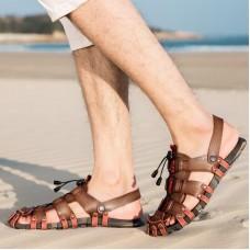 Gli uomini di Estate Sandali di Grandi Dimensioni 38-47 Al di Fuori del Sandalo Degli Uomini Scarpe Roma Confortevole Gladiatore Scarpe Per Gli Uomini Casual Estate scarpe