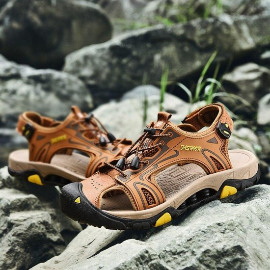 2019 Casual Sandali per Gli Uomini Della Spiaggia di Estate Scarpe Da Trekking Moda Uomo Outdoor Casual Calzature Classic Roma Sandali Gladiatore