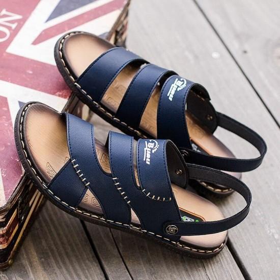 Sandali Outdoor Per Gli Uomini di Grande Formato 38-46 Maschio Casual Scarpe di Moda Casual Pistone di Estate Casual Blu Marrone Piatto sandali Per Gli Uomini