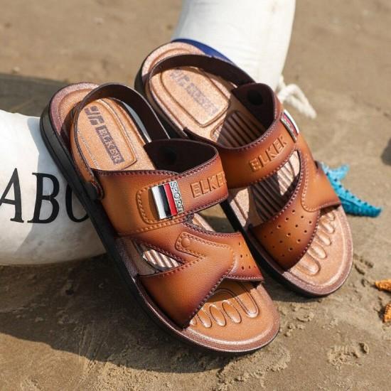 Alla moda del Sandalo Degli Uomini Scarpe Scarpe Estive di Sesso Maschile Per La Spiaggia Marrone All'aperto Pantofole Dei Sandali di Acqua Scarpe Slip-On Sandali Presentazioni aziende produttrici giochi