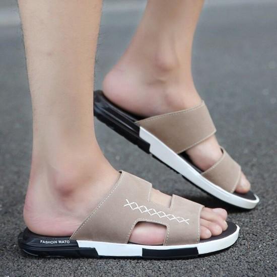 2018 di Lusso Sandalo Scarpe Da Uomo Mens di Estate Scarpe Pantofole Piattaforma Pantofola Scivolo Al di Fuori di Modo Casual Uomini Ciabatte Da Spiaggia