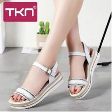 TKN 2019 Delle Donne sandali di cuoio di...