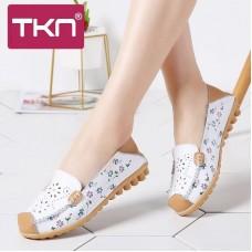 TKN 2019 donne della molla degli appartamenti di balletto scarpe infermiera Mocassini da donna scarpe da barca genuino slip in pelle su ballerina scarpe da donna 1730