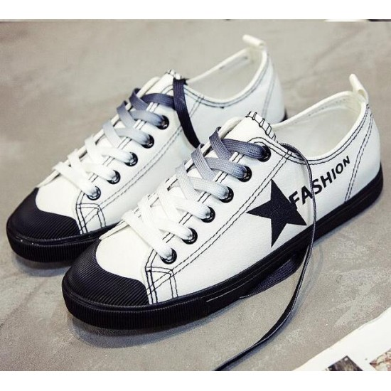 New Unique Star Design Ladies Flats Shoes Elegant Girl Comfortable Lady Casual Woman Shoes Leisure Woman's Student Sneakers