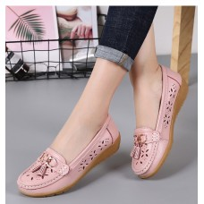 Women Flats Summer Women Genuine Leather...